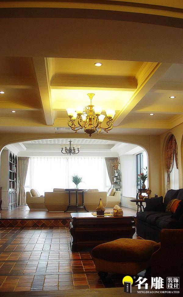 名雕装饰设计-中信红树湾三居室-地中海风格休闲书室