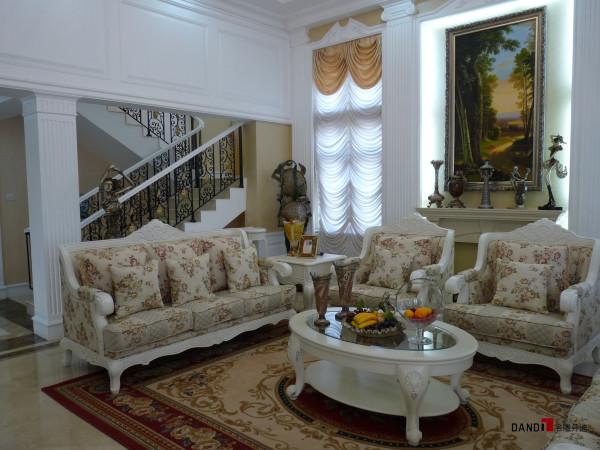 名雕丹迪设计-星洲湾别墅-欧式风格客厅