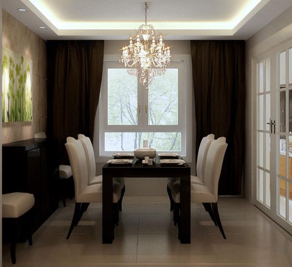 成都实创装饰—绿地世纪城117平米A2户型—新古典风格—餐厅装修效果图
