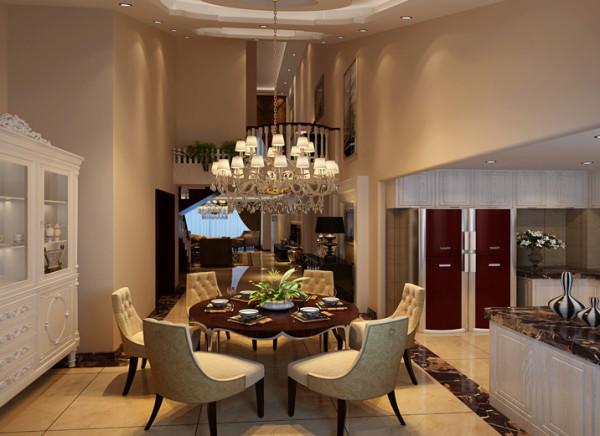 令人耳目一新的厨房,这是开放式厨房带来的空间感受,在开放式厨房中,吧台的出现大大增加使用率,朋友来了,调几杯鸡尾酒,颇有些异国情调,是家居空间更为宽敞,更具时尚感。