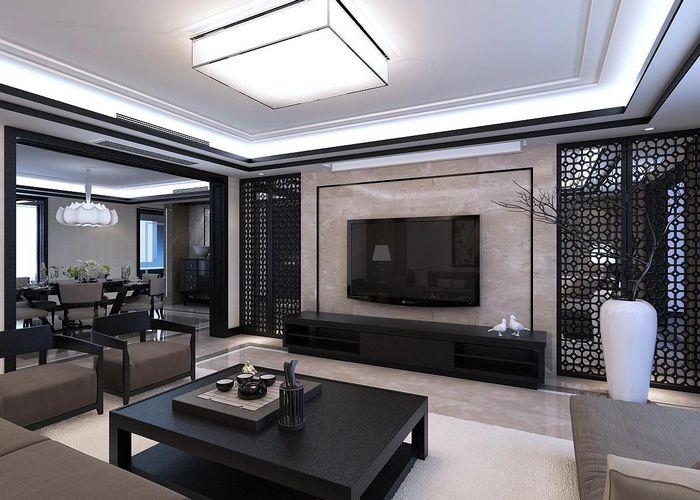 后现代大平层装修效果图设计作品客厅