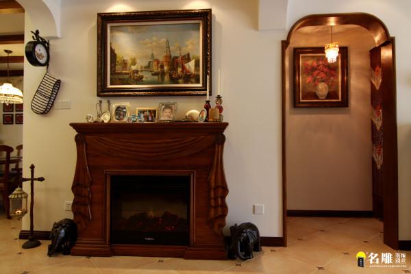 名雕丹迪设计-硅谷别墅-美式风格-玄关