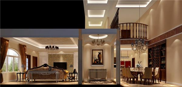 我们结合风水和欧式元素,对于门厅的的设计中融入了漂亮大气的石材拼花地面。墙面设计了欧式造型墙,马上把传统的欧式风格元素传递给进门的主人或客人。