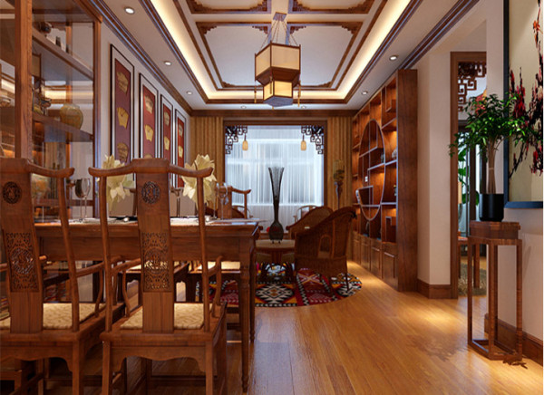 10万中式古朴典雅三居室