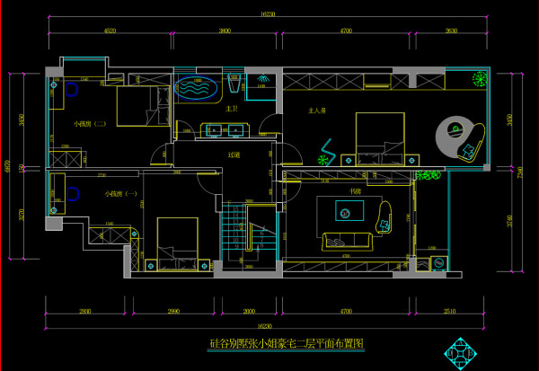 名雕丹迪设计-硅谷别墅-美式风格-2层平面图