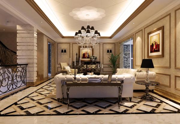 澳景园别墅装修设计新古典风格精致优雅豪宅