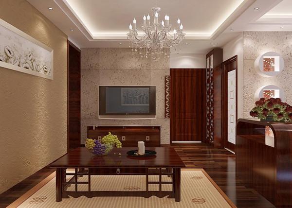 客厅:大量纯天然软木装饰材料和自然清新的壁纸,客厅以深棕色为主色调配上一些浅黄色,这样 房间看上去不过与沉稳。