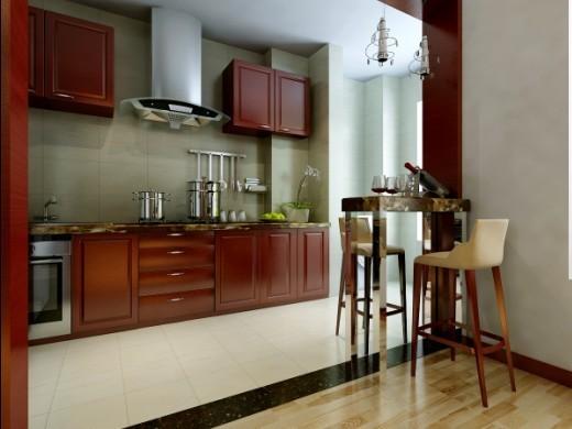 【西安朗汇装饰】新中式风格厨房效果图赏析
