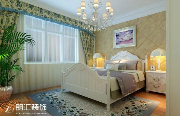 【西安朗汇装饰】田园风格两居室卧室效果图赏析