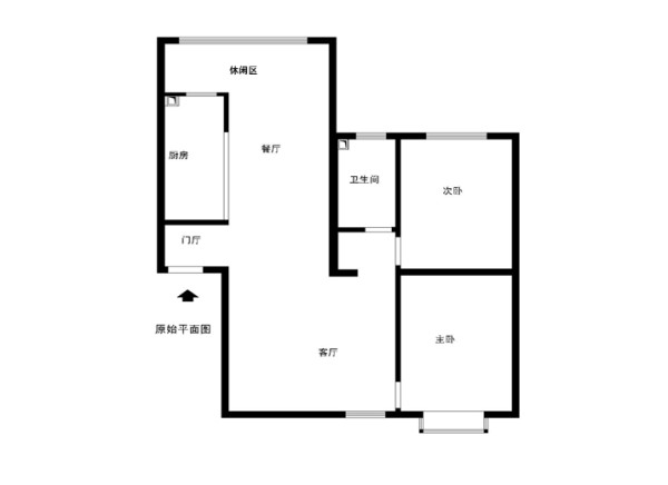 燕郊纳丹堡小区110平米原始户型图