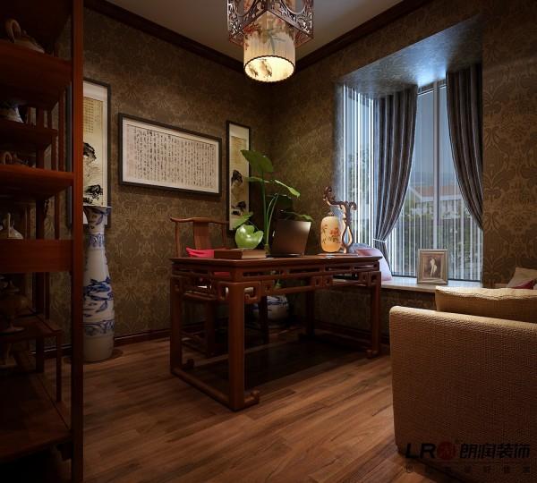 完全的中国式的古味书房,浓浓的书香味在没有看到书之前就因为家具和配饰体现得淋漓尽致。