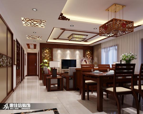 客厅背景墙部分采用苹果木边框和大理石饰面来装饰,既美观而又不失格调。让业主在居住舒适的同时又能享受视觉上带来的盛宴。