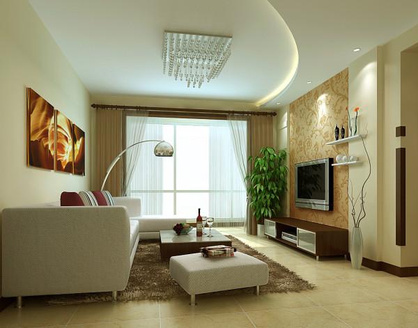 成都实创装饰—整体家装—客厅装修效果图