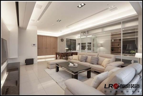 玻璃墙设计,让书房和客厅的整体效果更好,空间看起来更大,而没有空荡荡的感觉!