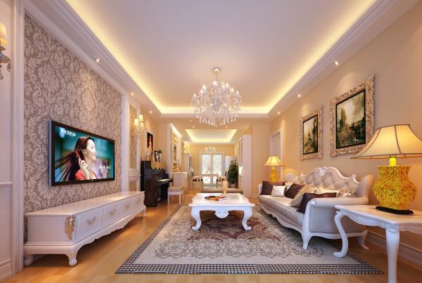 客厅 舒适与优雅并存的客厅 设计理念:法式风格不止是高贵奢华,还有舒适和优雅。本案中着重表现法式风格中舒适、优雅、安逸的气质。
