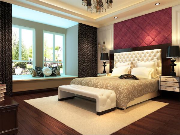 卧室作为业主休憩的场所,不需要过多的装饰,软包以及浅色墙漆的运用让整体空间温馨而又不失灵动。亮点:宁静的午后,坐在飘窗上看外面的世界,或者品一杯清茶,或者捧一本书,去回味人生的美好。