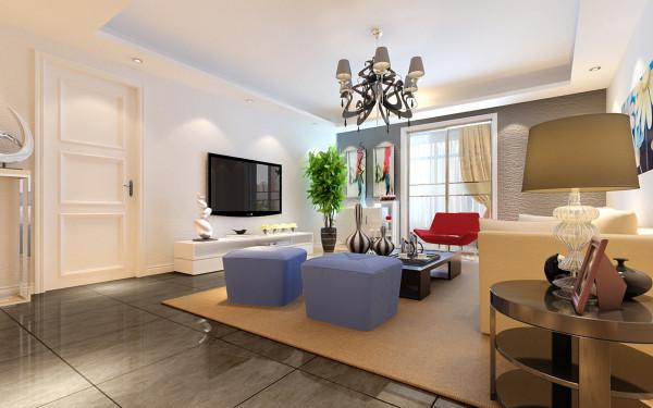 业主要求整个空间不需要任何脏乱,那主要用了白色的墙面,地面用了黑灰色的瓷砖,艺术感增强。