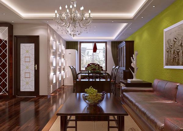 色彩绚烂的餐厅:餐厅重点是光的运用,明暗对比,既突出照明,同时也节能环保。