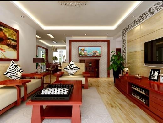 【西安朗汇装饰】新中式风格客厅效果图赏析