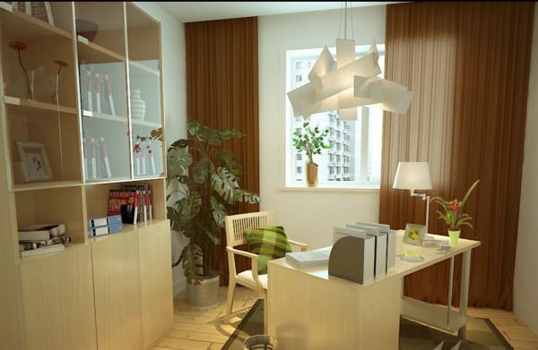 成都实创装饰—整体家装—书房装修效果图