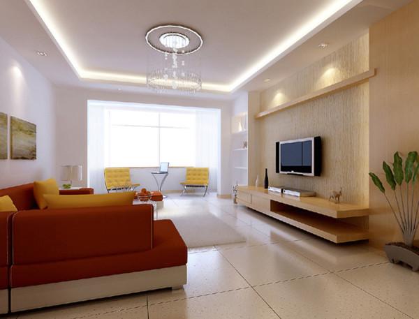 成都实创装饰—现代简约风格装修参考—客厅装修效果图