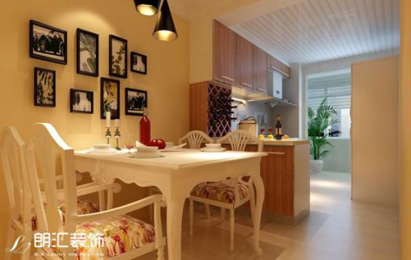 【西安朗汇装饰】田园风格两居室餐厅效果图赏析