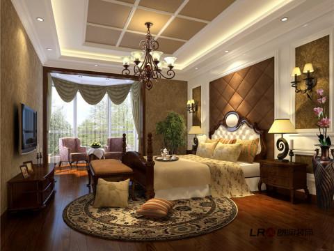 主卧室的陈列,一样温馨大气,完美良好。