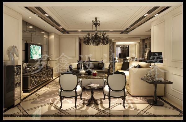 客厅旨在结合多种文化元素,在同一处空间中,文化内涵决定了空间最终的品质和气质,客厅的高度决定了空间最后的大气与厚重。