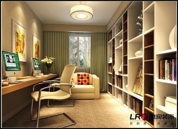仁和春天国际花园-三居室-137.57平米-书房装修设计