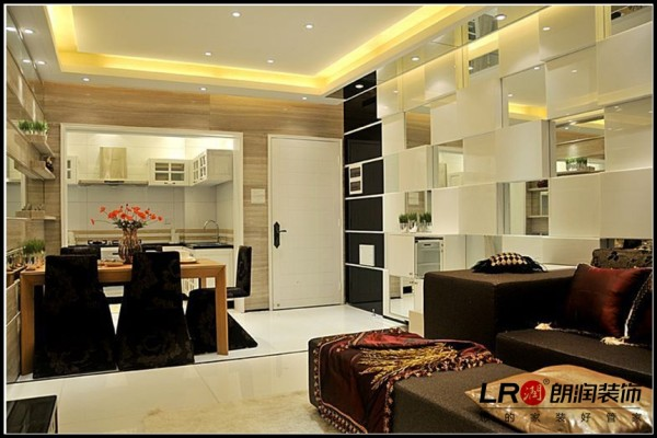 南湖国际社区-二居室-124平米-餐厅装修设计