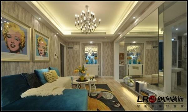 泰悦湾-三居室-112平米-客厅装修设计