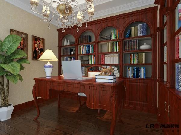 书房是一整排的红胡桃实木书柜,古色古香的书香味。