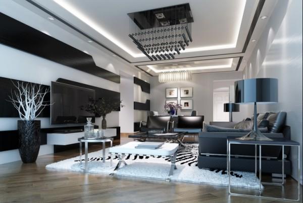 金空间装饰分享达美第6区客厅装修效果图