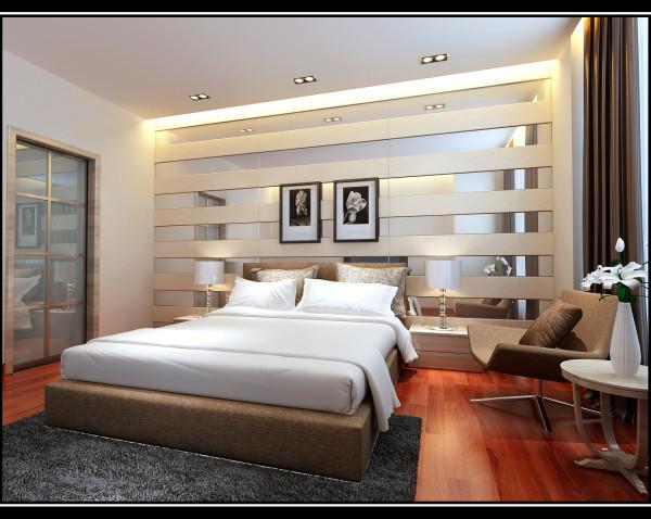 金空间装饰分享万家城卧室装修效果图