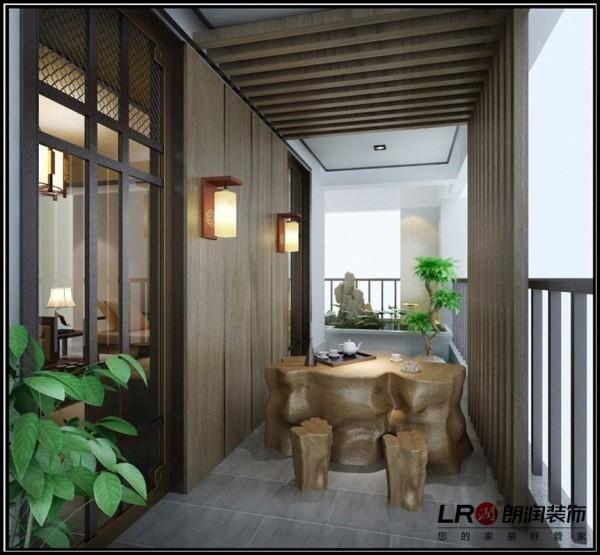 海骏达蜀都1号-二居室-111.69平米-阳台装修设计