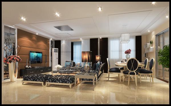 金空间装饰分享凤凰城客厅装修效果图