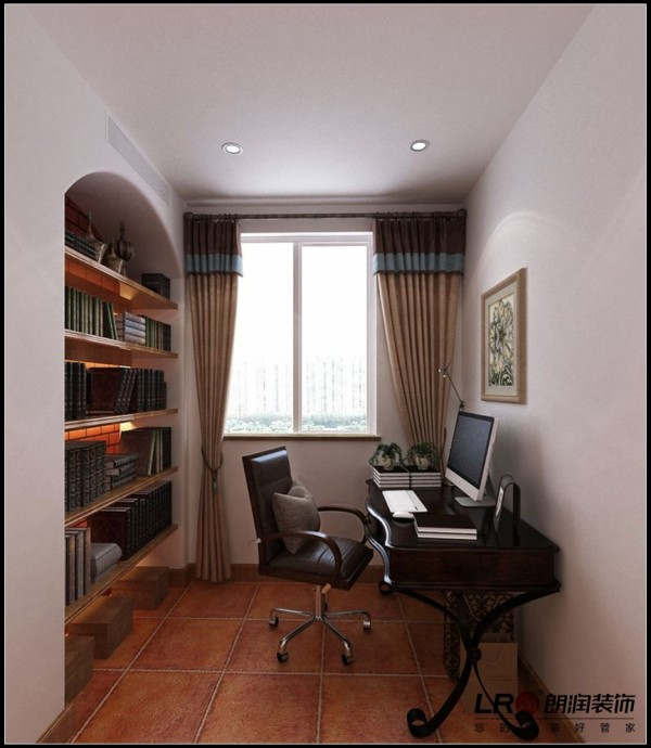 光明城市-三居室-121.88平米-书房装修设计