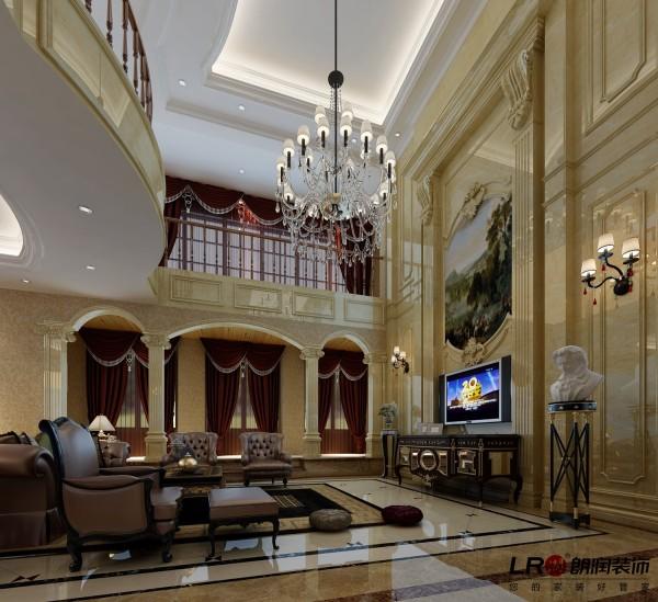 整个客厅的鸟瞰图,无论从哪个角度都是完美的奢华气息。