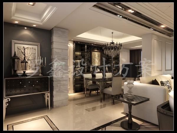 客厅和餐厅相连,在造型以及家具样式的选择上,设计师为了满足空间的变化之美,在此作了部分改变,凸显出空间的现代包容感