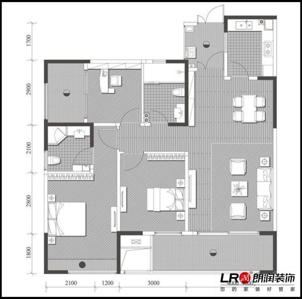 泰悦湾-三居室-112平米-户型图装修设计