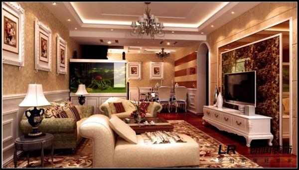 凯德风尚-五居室-249.11平米-客厅装修设计