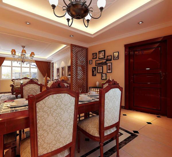 天地湾120平新中式风格两室两厅效果图