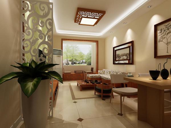 一扇白色镂空卷云纹的隔断将门口半遮掩,解决了入户门直对客厅的问题,也区分了客厅与餐厅空间,实木的餐桌更显江南风情。