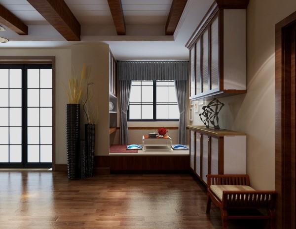 过道和飘窗的设计,增加的储物空间,