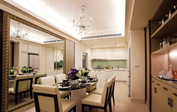 鹭湖宫七区-三居室-120平米-餐厅装修设计