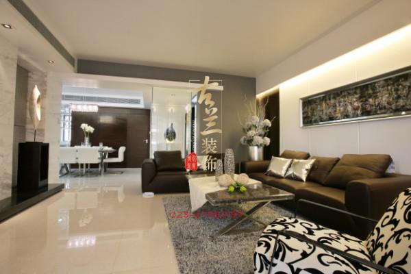 现代 时尚 三居室 装修设计 成都 客厅图片来自香港古兰装饰-成都在