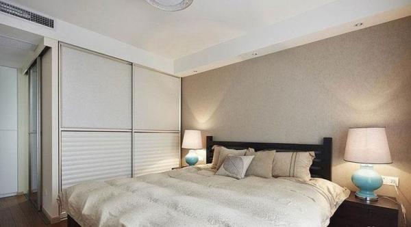 鹭湖宫七区-二居室-86.74平米-卧室装修设计   家具选择上强调让形式服从功能,一切从实用角度出发,废弃多余的附加装饰,点到为止