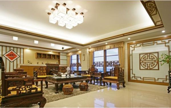 三利云锦-五居室-222平米-客厅装修设计