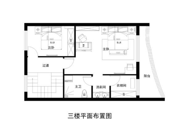 密云瑞海姆小区300平米三层平面布置图