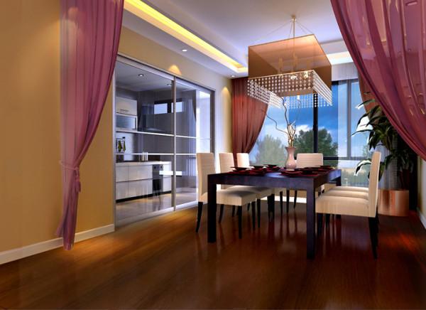 厨房改成推拉门,增加通透性,功能性,客厅加了暖色调的灯带,增加食欲